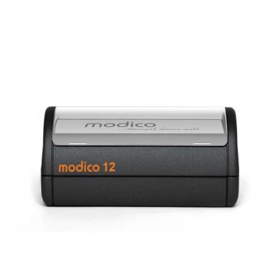 MODICO 12 86x67 mm, tekst, grafika, tabelki do stemplowania papieru.